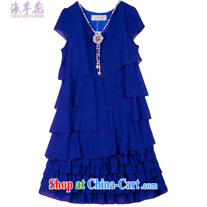 The line between a cake skirt the code dress snow woven skirts Solid Color dress code the dress thick mm dresses X - DGQ blue 3 XL