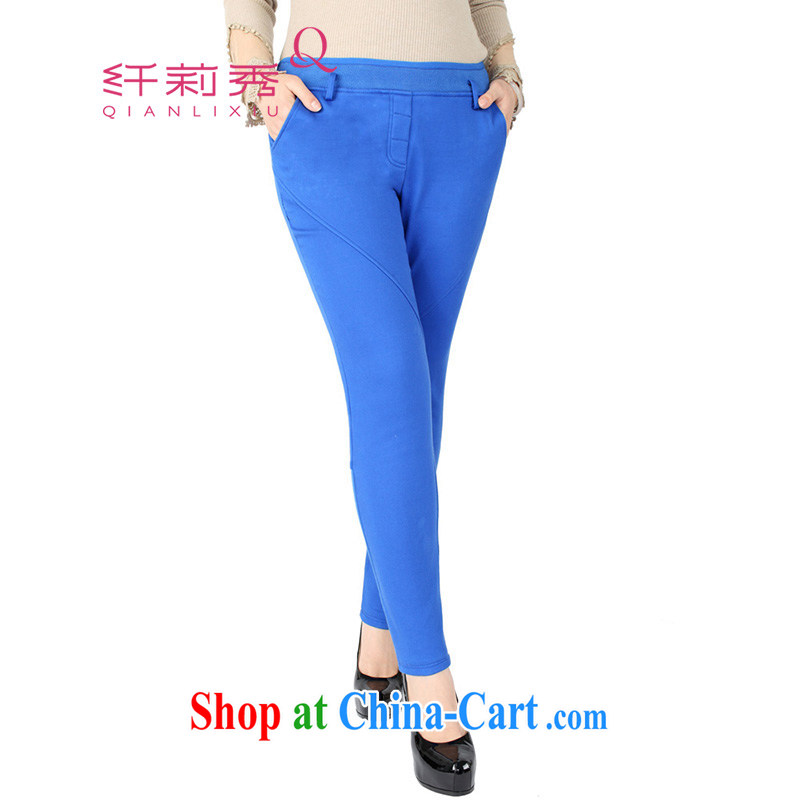 Former Yugoslavia Qianlixiu LI Sau 2014 spring loaded new products, female and lint-free cloth castor pants Q 2720 blue XL