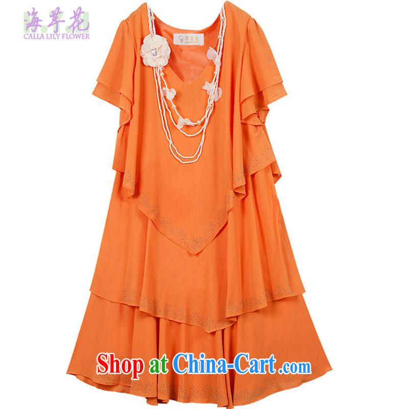 The line does not take rules cake dress code the dress code the dress mm thick snow woven skirt video thin dress summer dress dress 2L 12 - 002 orange 3 XL