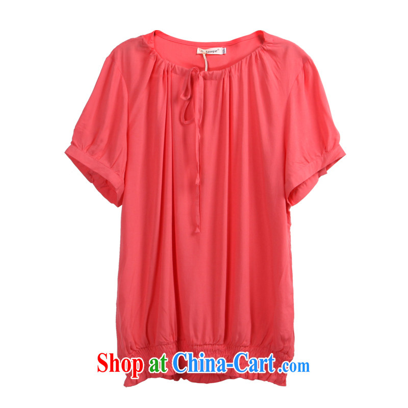 The feelnet code girls decorated in summer XL shirt leisure new Korean women's shirt code 3165 watermelon red 4XL - 48 code