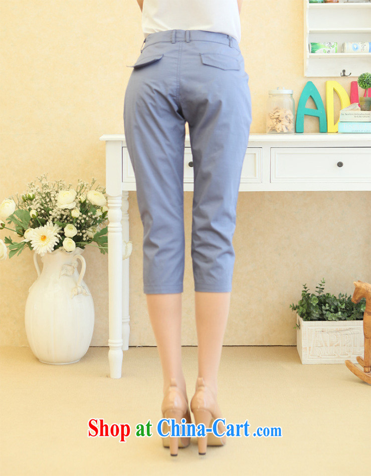 mm thick Korean version 7 pants girls summer graphics thin pants castor pants large, trouser press 7 pants female Harlan pants blue XL pictures, price, brand platters! Elections are good character, the national distribution, so why buy now enjoy more preferential! Health