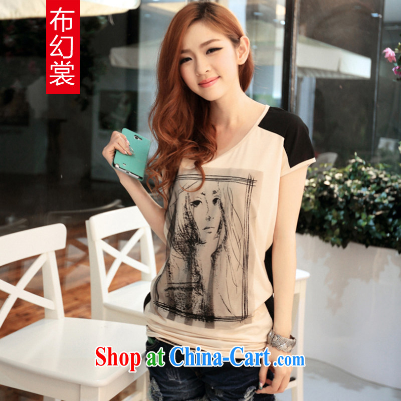 The Magic advisory committee summer 2015 women new loose the code mm thick short-sleeved T-shirt Q 085 card its XXL