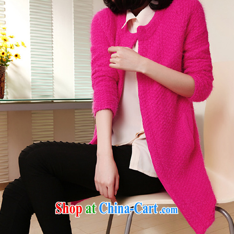 for Elizabeth's clothes, spring and autumn fat, female and indeed XL sweater, wool knitting garments QA 803 Special Offers the red are code