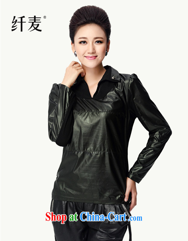 Slim, Mr Big, women fall 2014 with new female thick mm stylish beauty, for the leather jacket NZY 2333 black XL