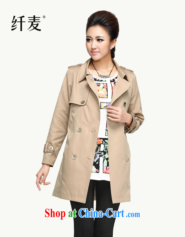 The Mak is the women's clothing Spring and Autumn 2014, mm thick new stylish beauty graphics thin double-wind jacket 13,603 apricot M