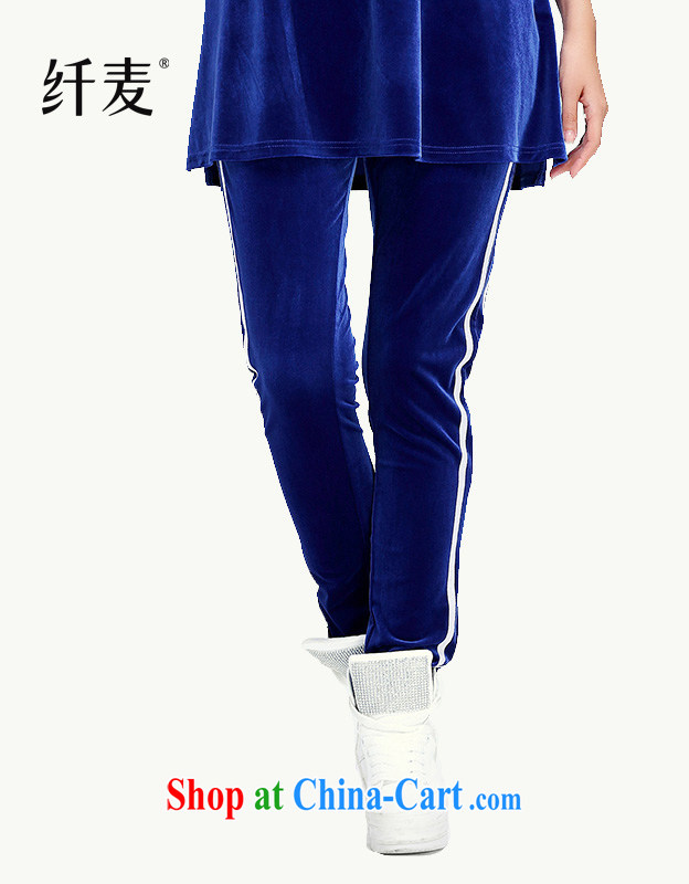 Slim, Mr Big, female 2014 pants Korean very casual pants trousers female 12,258 blue XXL