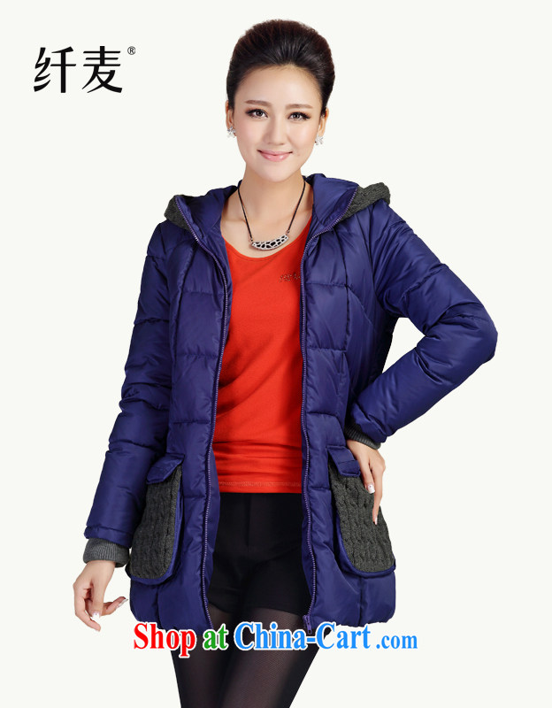 The Mak is the women's clothing 2014 autumn and winter new thick mm stylish pocket organizations spend knitting stitching quilted coat first 13,729 estimated XL