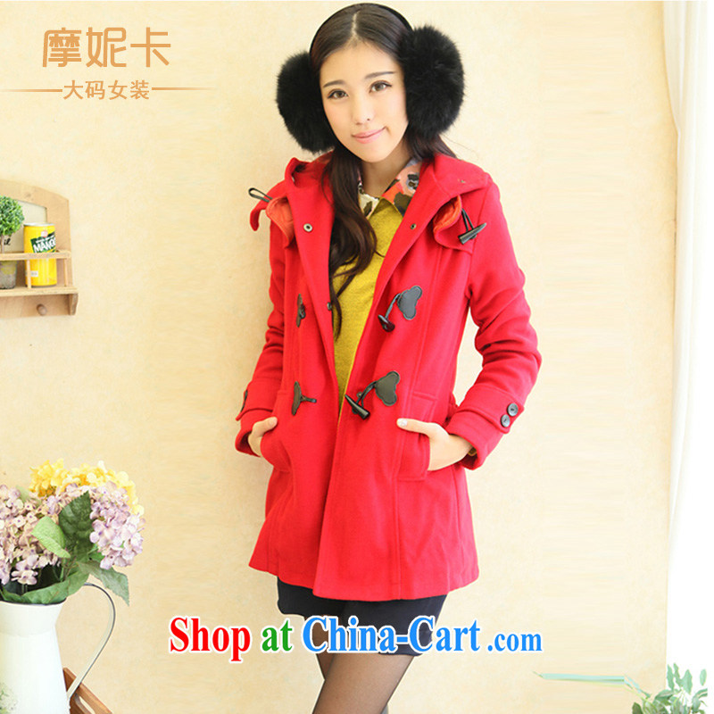 Connie Moses card the Code women mm thick winter load new Korean version in thin long windbreaker thick sister jacket female Red XL