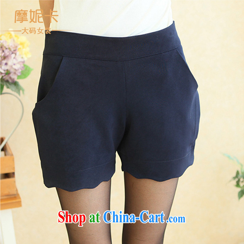 Moses Veronica the Code women mm thick load fall 2013 new graphics thin Korean petal lounge thick sister short pants blue XL