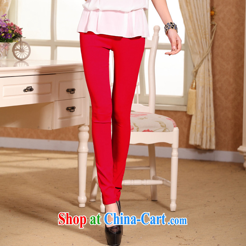 In particular, Eugenia Brizuela de Avila 2015 high back spring and summer solid pants female fat people video skinny legs pants larger female pants female, women wearing pants solid red XXXXL