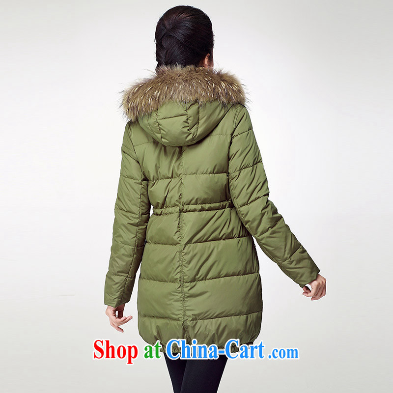 The Mak is the female 2014 autumn and winter, new mm thick rammed-color tile campaign sub-mao collar jacket HL 131,181 army green XXXXXL, former Yugoslavia, Mak, and shopping on the Internet