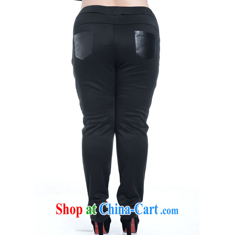 Hi Princess slave version won big, the FAT and FAT MMPU leather thick relaxed and modern graphics thin tile graphics thin trousers black 2 XL (not 170 jack, don't shoot), Hi Margaret slavery, shopping on the Internet