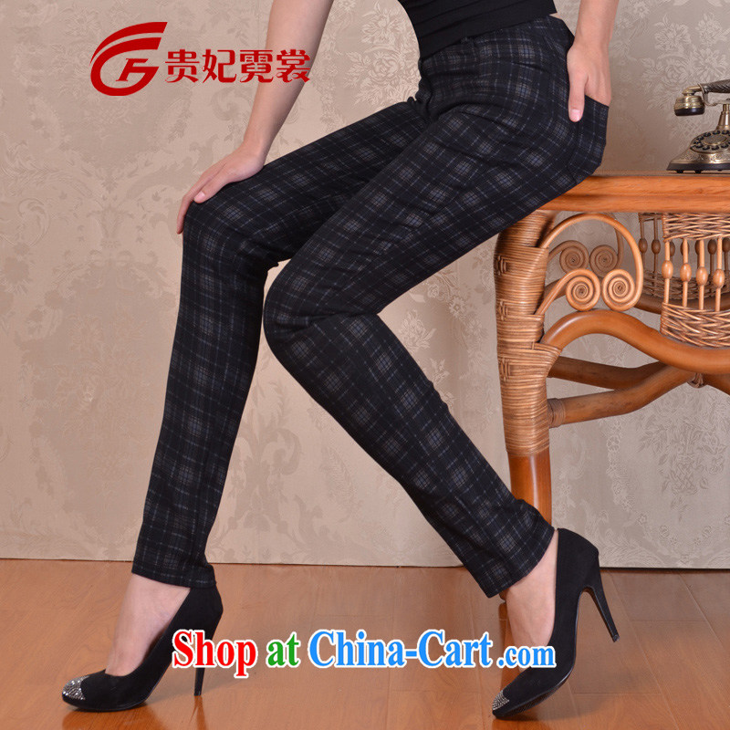 queen sleeper sofa Ngai advisory committee 2014 thick sister XL women mm thick load fall Korean female pants plaid pants has been legged pants castor pants 3260 tartan 34