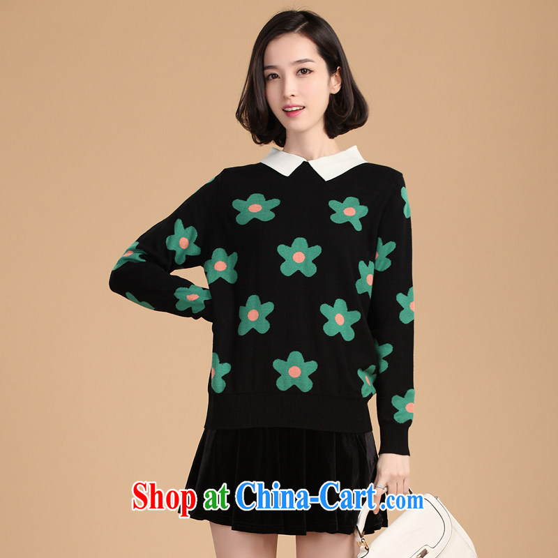 The Kano 2014 spring New Fleece female Korean version and solid shirts dolls for knitting sweaters girls 203 green is code