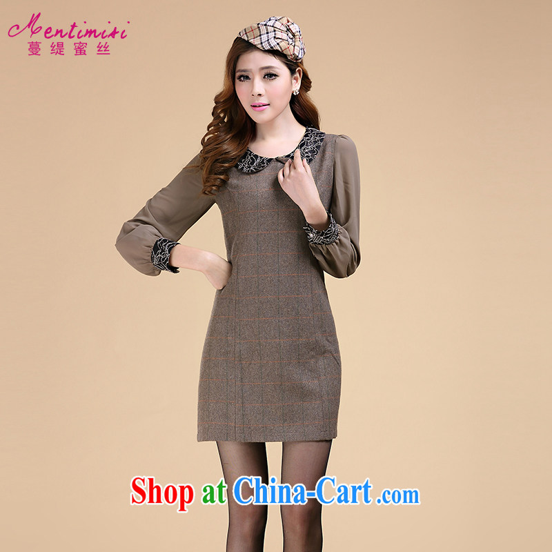 Mephidross economy honey, and indeed increase, female fat sister autumn is new stylish doll for long-sleeved dress 3101 picture color the code 5 XL