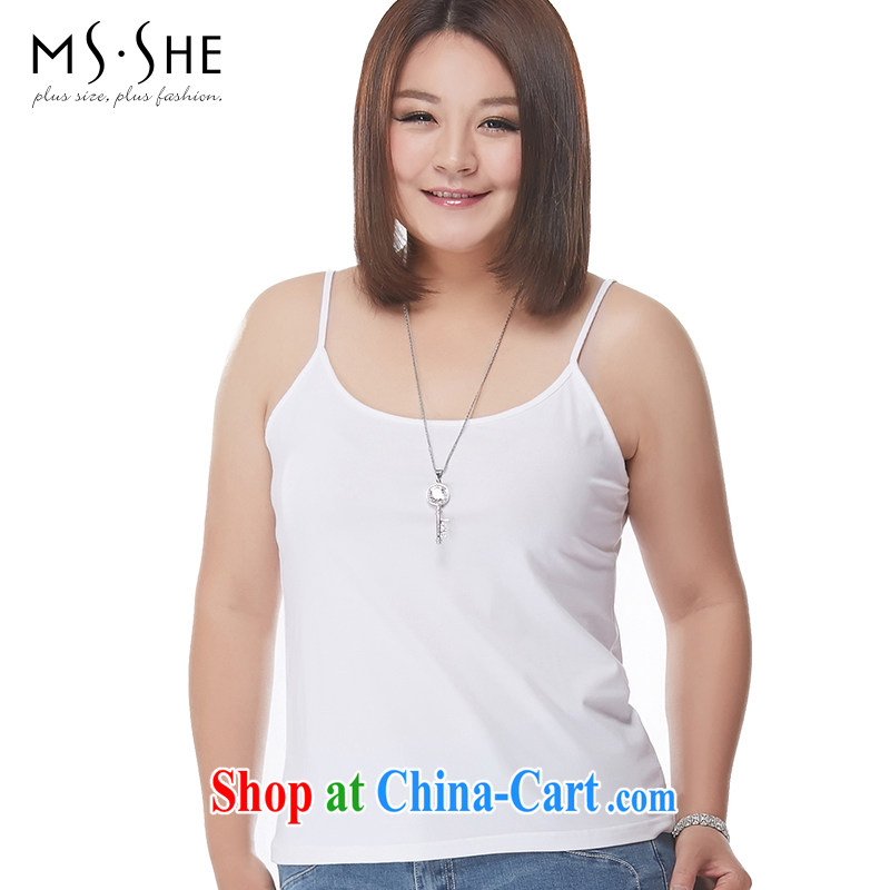 MsShe XL girls 2015 new summer Recreation Ground on 100 female small vest small strap with pre-sale 6630 white 4XL