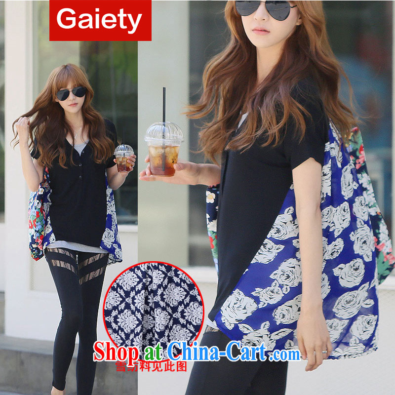 According Gaiety acajou (2014 summer new thick mm maximum code female solid ice woven stitching short-sleeved shirt T XR 51,215 #black 1215 are code