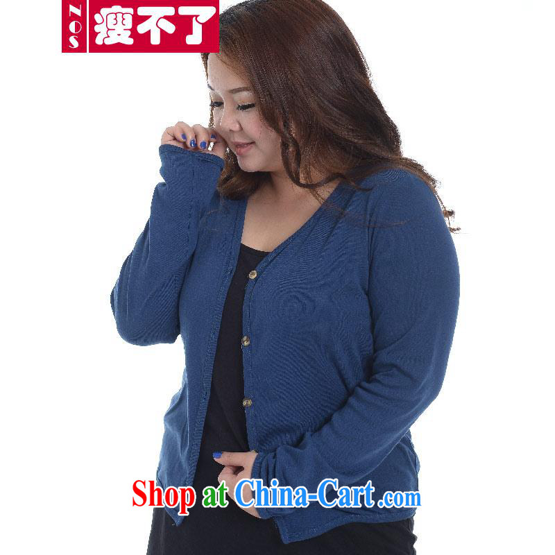 Thin _NOS_ thick mm XL ladies casual knitted T-shirt T-shirt cultivating ground 100 small jacket A 5671 large blue code 4 XL 220 Jack the following