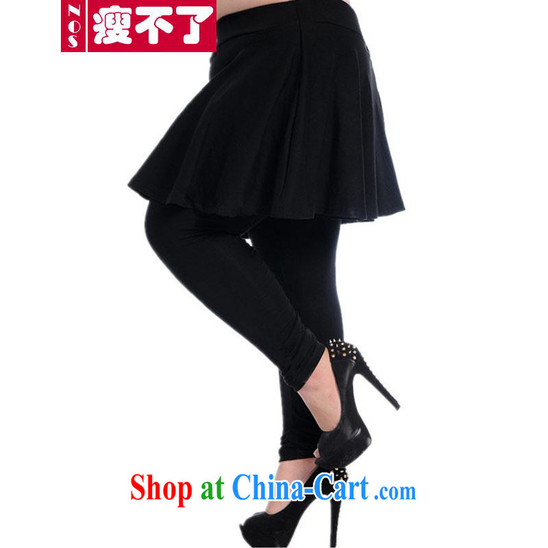 NOS new larger female Elastic waist with pants and skirts leave two-piece Large Body pants and skirts beauty graphics thin A 6691 black 3 XL_200 Jack left and right