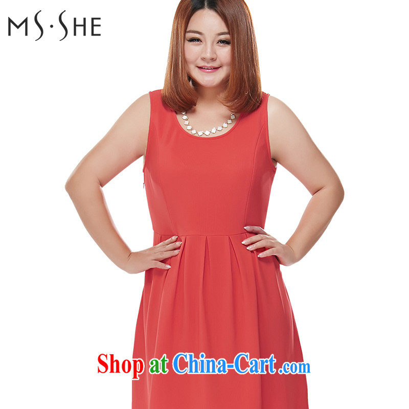 The MsShe indeed XL women 2015 mm thick sister spring sleeveless vest dress up 100 6525 West red 4 XL