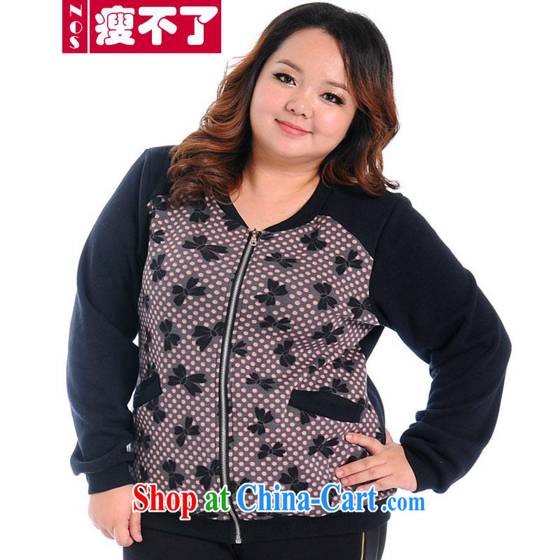 Thin _NOS_ to increase, women are not down the lint-free cloth shirt jacket stylish stamp graphics thin 100 ground A jacket 7011 black stamp duty 3 XL_230 about Jack