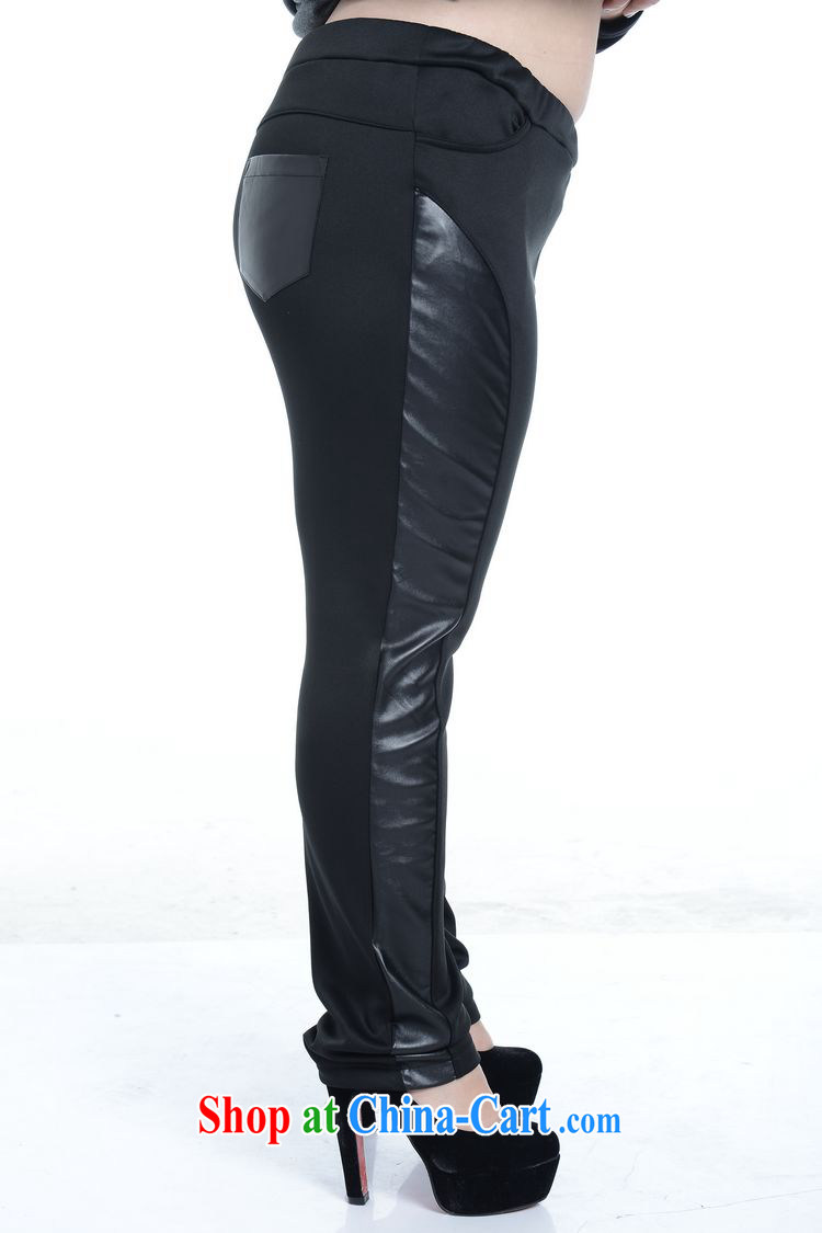 Thin (NOS), a large, female PU leather stitching pants beauty graphics thin stretch Elastic waist long leather pants A 5171 Black Large Number 2 XL/model through pictures, price, brand platters! Elections are good character, the national distribution, so why buy now enjoy more preferential! Health