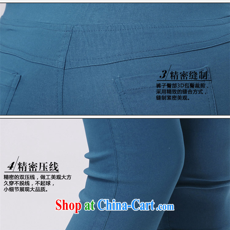 Szili Clinton's larger female Trouser press 2015 summer new, 7 pants and indeed increase stretch pants 100 solid ground pants graphics thin hip female pants Lake blue 4 XL pictures, price, brand platters! Elections are good character, the national distribution, so why buy now enjoy more preferential! Health