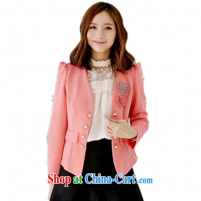 The delivery package as soon as possible e-mail XL autumn 2014 the OL commuter style suits long-sleeved shawl double-lady graphics thin jacket wore thick M watermelon toner XL 3 155 - 175 jack