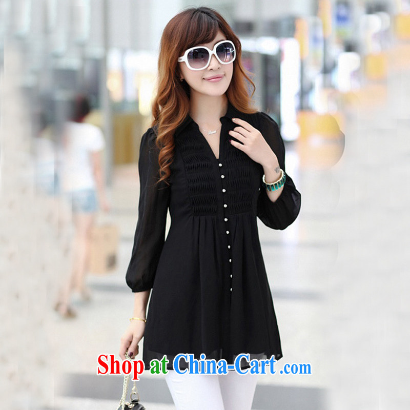 E-mail packages 2014 the Code women is the increased emphasis on mm spring new thick, clothing graphics thin ice woven shirts - 21,349 black large code 6 XL (recommendations 185 - 200
