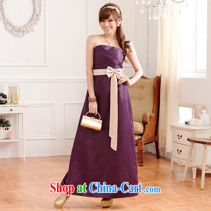 XL dress dresses 2014 summer new, classy and a colorful Bow Tie beauty straps dress mm thick Evening Dress small purple XL 120 - 140 jack