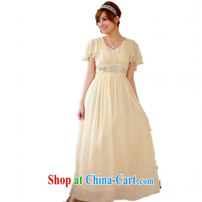 The delivery package as soon as possible e-mail XL ladies dress upscale diamond-back snow woven skirts and elegant graphics skinny dress code the long version wedding champagne XL 3 155 - 175 jack
