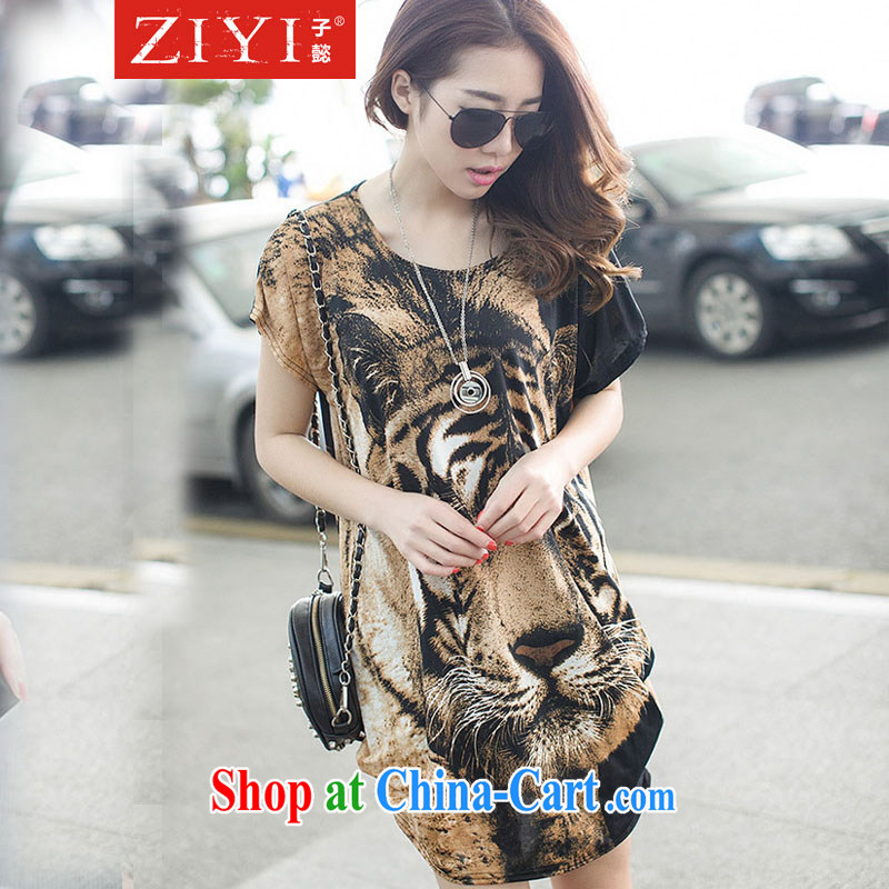 sub-headquarters in summer 2015 New T shirts Tiger stamp leisure loose the code female L 10,020 brown 10,020 are code