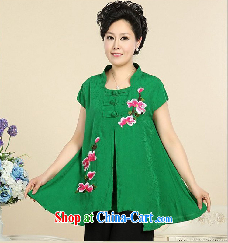 The United States, summer 2015 new upscale sand wash basket, older peony flowers Leisure package T-shirt + pants Green - Dark Green XXXXL pictures, price, brand platters! Elections are good character, the national distribution, so why buy now enjoy more preferential! Health