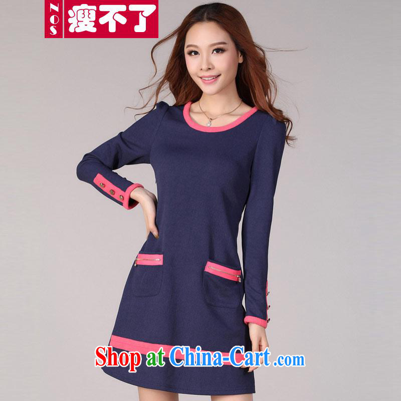 I can't thin _NOS_ to increase, female long-sleeved multi-pocket long cotton long-sleeved dresses Y 20,531 large blue code 3XL 150 Jack the following