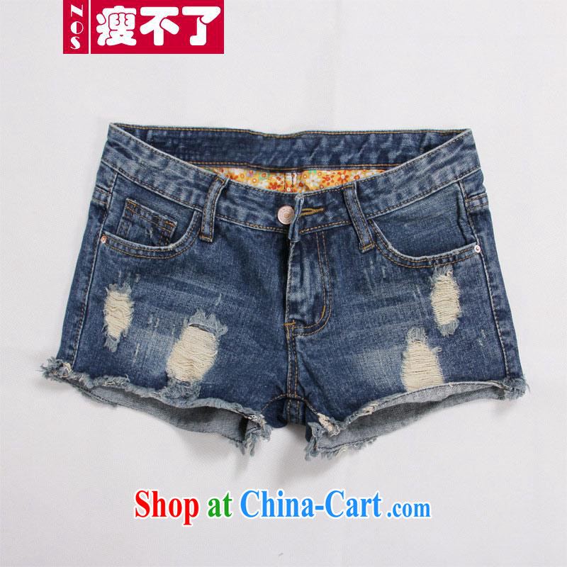 Thin _NOS_, Mr new, larger female crimping stylish 100 ground graphics thin worn out jeans hot pants M 10,811 blue 34 code 150 recommendations about Jack wear