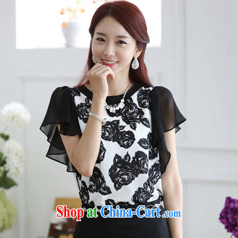 2014 new summer Korean version 8327 loose video thin ice woven shirts T shirt T-shirt picture color XXL