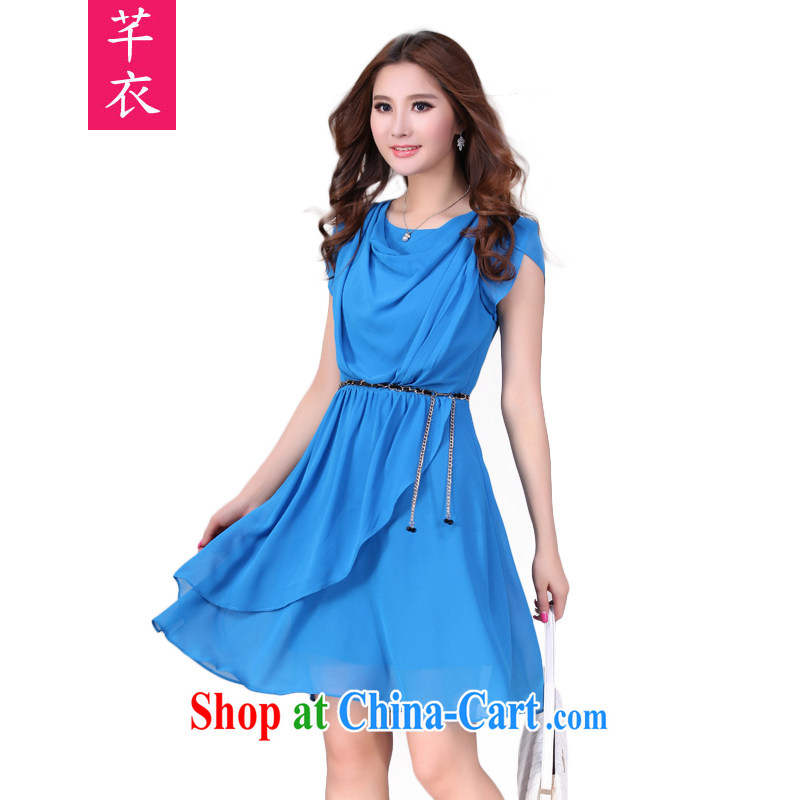 CONSTITUTION AND CLOTHING XL female snow woven skirt 2015 thick sister summer new multi-layer snow woven skirts and elegant ladies dress thick mm leisure dress sky XL 3 150 - 165 jack