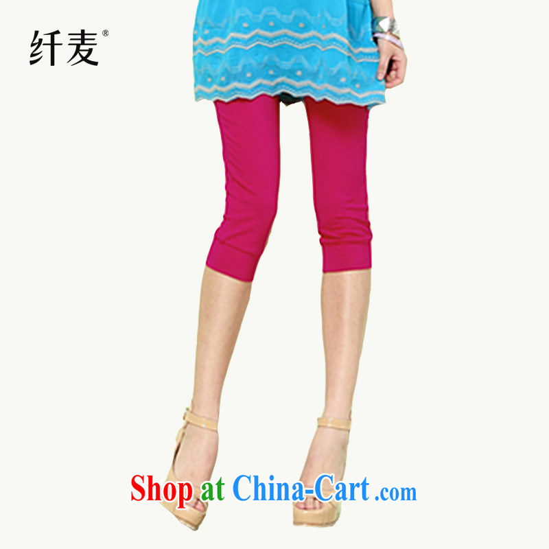 The Mak is the girl with 2014 new thick mm stylish Solid Solid 7 pants 12,072 - 2 the red XXL