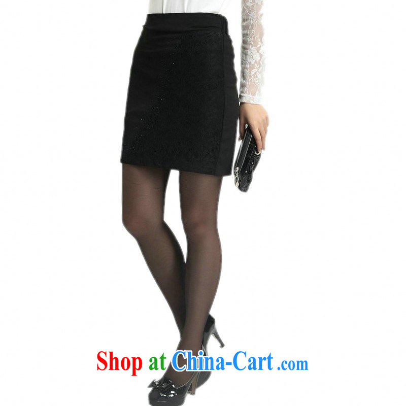 The delivery package as soon as possible e-mail the ventricular hypertrophy, body skirt 2014 spring and summer new packages and graphics thin A with short skirts and white collar Business Professional dress black waist elasticated XL 4 and 118
