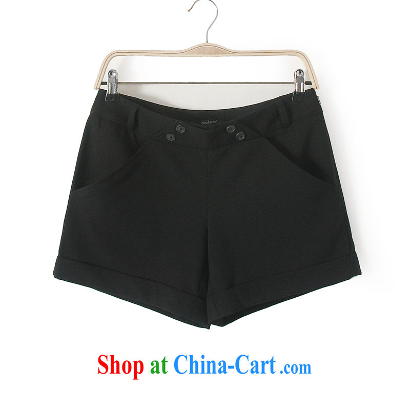 The 2014 code female pants thick mm summer large foreign trade, women in Europe and the original single pants shorts hot pants 4 black 12 _tile measurement pants control_