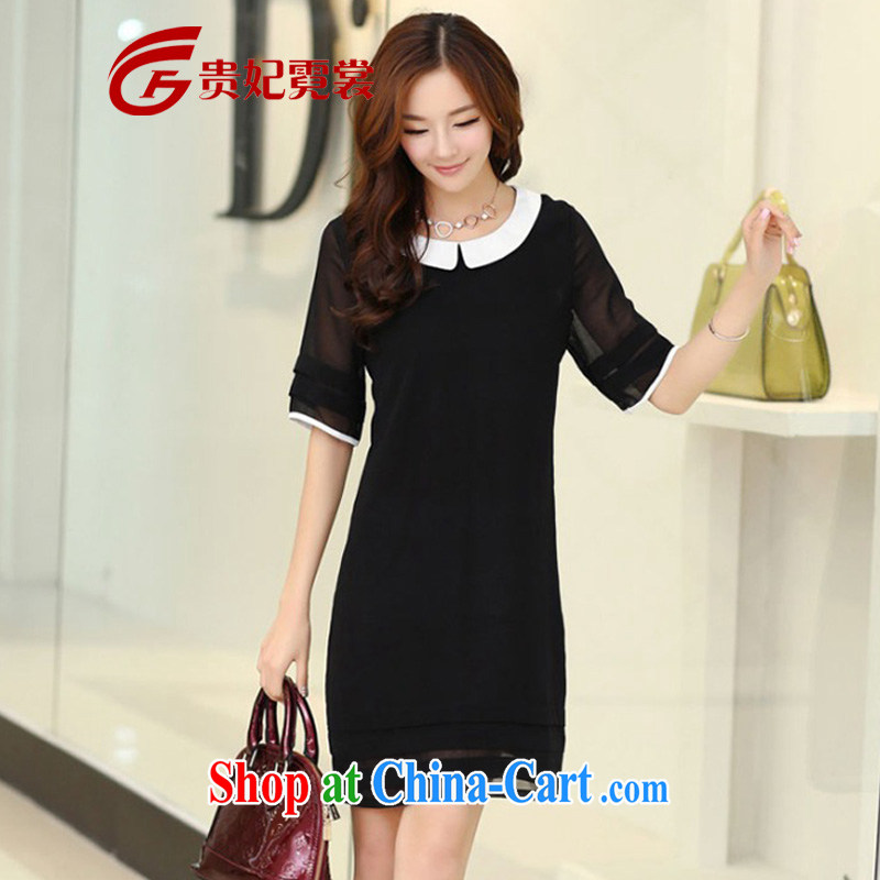 queen sleeper sofa Ngai advisory committee summer New, and indeed increase, short-sleeved dresses Korean king, female fat mm King Size Code 200 Jack video thin dresses A 121 black 2 XL for 145 - 165 jack