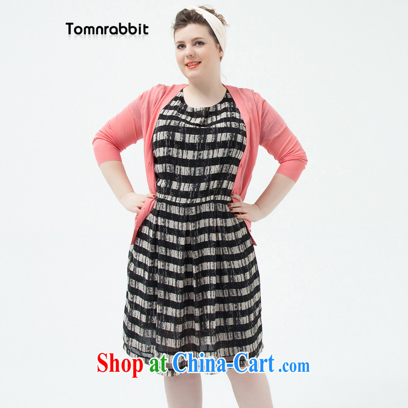 Tomnrabbit 2014 summer new Snow streaks woven dresses beauty in Europe video thin large code A field skirt picture color 2 XL