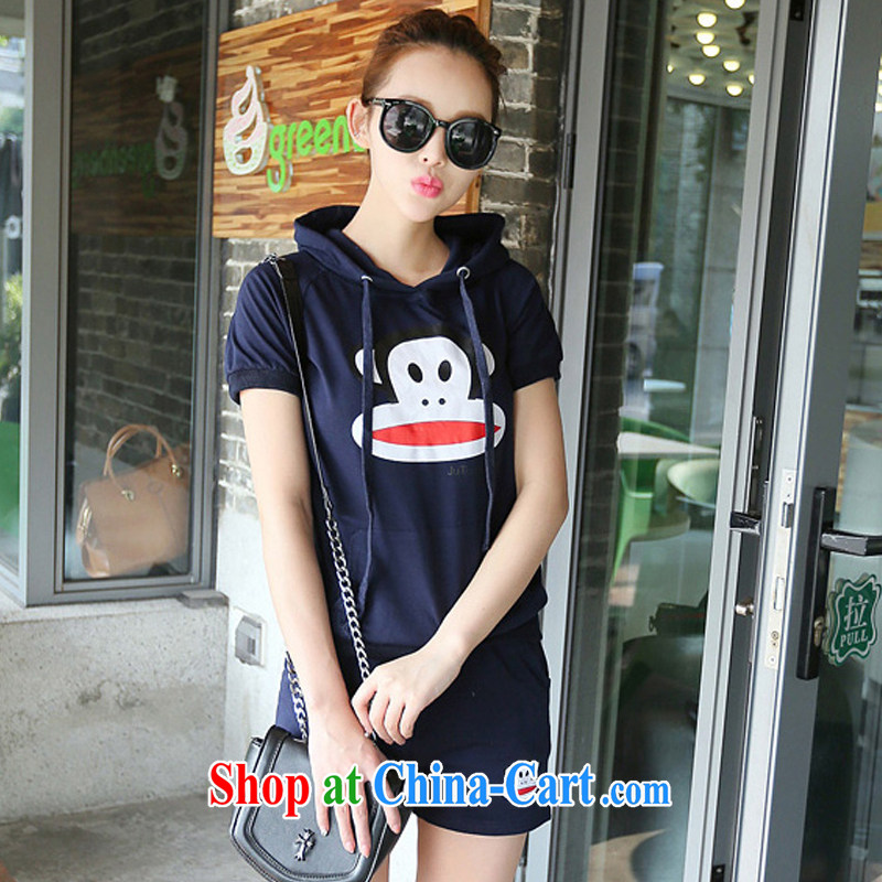 Electoral support the health care entity's 2014 Korean style lounge, the nozzle tip monkey short sleeve shorts uniforms kit A 8958 Tibetan youth XXL