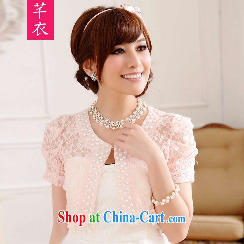CONSTITUTION AND CLOTHING XL women 2015 new summer sweet-in-ground 100 lace short-sleeved cardigan Air Conditioning T-shirt thick mm summer small jacket, a shawl pink large XL 2 140 - 160 jack