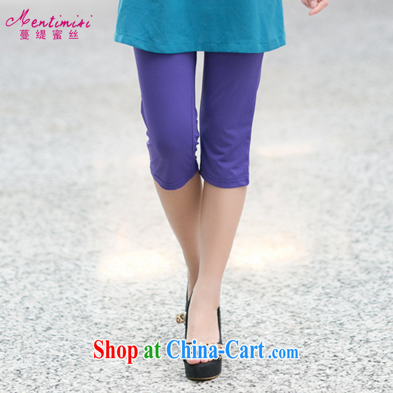 Mephidross economy honey, King, female pants thick mm summer 2014 new Ms. solid stretch pants, wearing MS 9002 purple large code 4 XL
