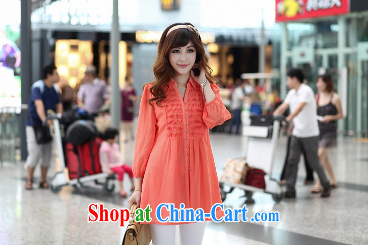 Platinum sign wave (PTLONG) code female Korean snow woven shirts thick mm and indeed increase code 9 cuff lapel shirt dark blue XXXXXXL pictures, price, brand platters! Elections are good character, the national distribution, so why buy now enjoy more preferential! Health