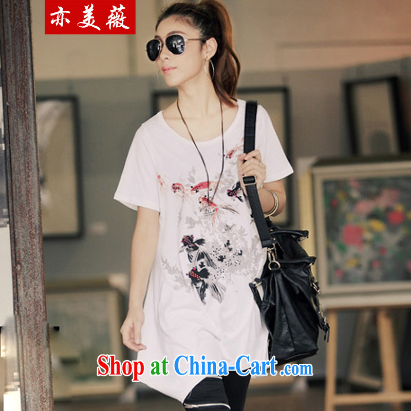 Also the US Ms Audrey EU 2015 summer and autumn new Ethnic Wind loose stamp wood drill long, short-sleeved shirt T 1902 _ _goldfish_ Maximum number code