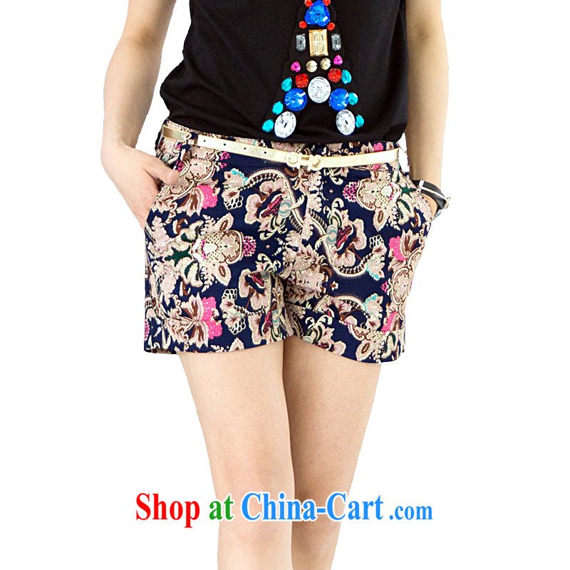Increase the emphasis on MM summer 2014 New, and indeed increase, female fat sister summer King, female shorts 200 Jack leisure hot pants suit 5 XL recommendations 180 - 195 jack