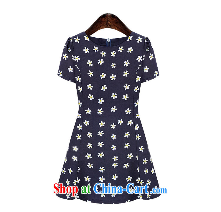The butterfly summer 2014 new Europe XL female dress mm thick snow woven short-sleeved beauty graphics thin stamp skirt 6008 Tibetan cyan 4 XL pictures, price, brand platters! Elections are good character, the national distribution, so why buy now enjoy more preferential! Health