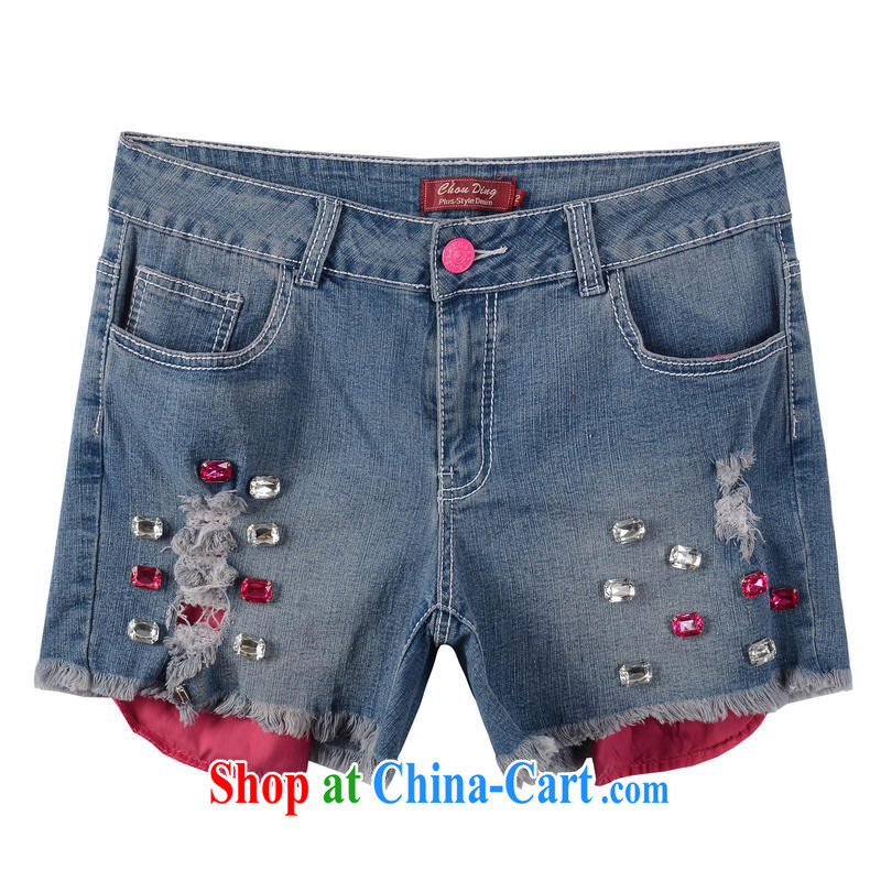 Thin _NOS_ new summer, indeed the XL female Korean video thin stretch Elastic waist denim shorts hot pants M 76,911 red 42 code_suitable for 200 Jack left and right